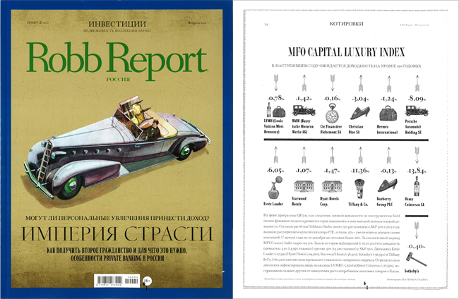 Robb Report Luxury Index – февраль 2014