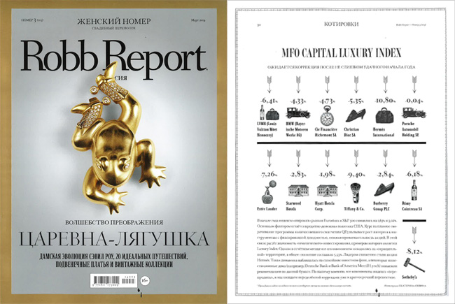 Robb Report Luxury Index – март 2014